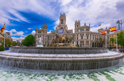 Spain Madrid Houses Fountains Sculptures Water 553908 1280x840